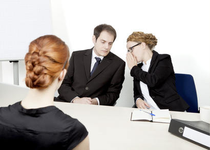 Personnel managers conducting an interview